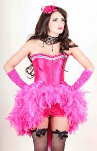 Big Fat Gypsy Wedding Costume * Big Fat Gypsy Wedding Dress * Burlesque Girly Feather Dress * Pink Feather Dress
